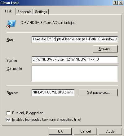 server 2003  power shell for windows xp