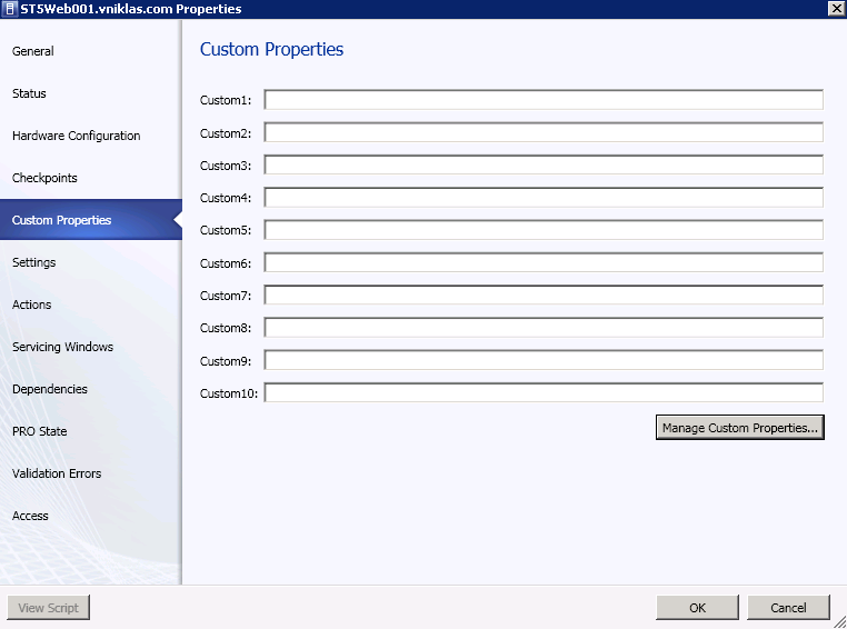 Add my own custom properties and populate them with