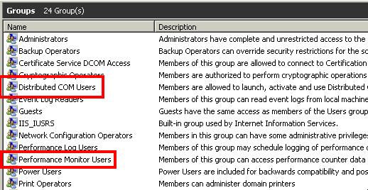 Set up non-admin account to access WMI and performance data