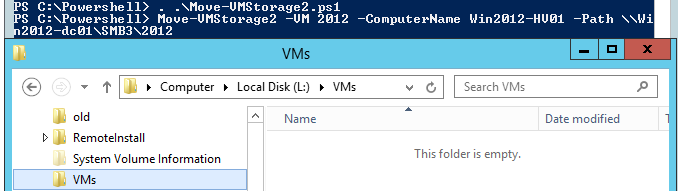 In Windows Hyper-V 2012, Move-VMStorage leaves folders