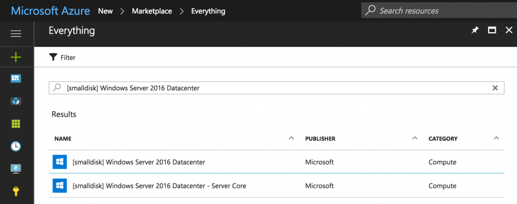 "Windows Server 2016 ""Core"" in Azure with a [small disk] – vNiklas"