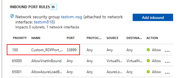 Azure and Azurestack alternative RDP port for VM – vNiklas